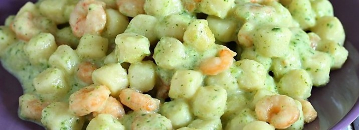 Gnocchetti Crema Zucchine Gamberetti